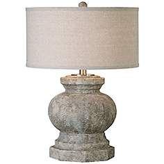 Uttermost Verdello Antiqued Stone Ceramic Table Lamp