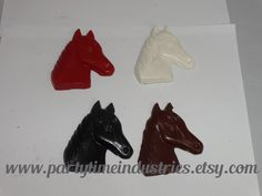 2 Western Country Horse Shaped Crayons by PartyTimeIndustries on Etsy