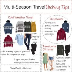 Packing Tips and Travel Clothing for Multi-Season Trips