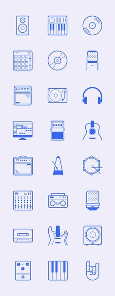24 Studio and Music Vector Icons Free