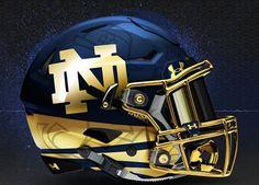 University of Norte Dame Fighting Irish Concept Football Helmet. Football Usa, Notre Dame Football, American Football, Football Quotes, Alabama Football, Pittsburgh Football, Football Stuff, Oklahoma Sooners, Sport Football
