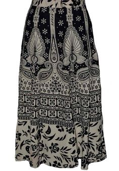 Black And White Coloured Block Print Jaipuri Wraparound Skirt  http://alicolors.com/index.php?route=product/product&product_id=1172