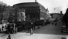 Stockmannin uudistettu tavaratalo ja takana Wulffin kulma, Helsinki 1938 (Kuva Hgin kaupunginmuseo, Fotoma)