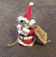 Father Christmas felt handmade decoration, Santa decoration  £12.50