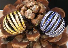 Waves Rings - Diamonds & Sapphires Wave Ring, Diamond Rings, Christmas Gifts, Diamonds, Beaded Bracelets, Waves, Jewelry, Xmas Gifts, Christmas Presents