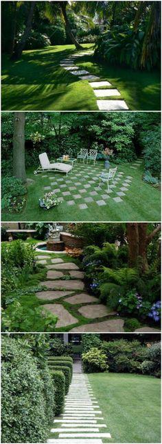 11 Lawn Landscaping Design Ideas, Anyone Can Make #11 via @1001Gardens