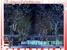 Sims 4 CC's - The Best: Fairy Light Trees by Waterwoman