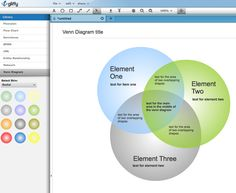 Gliffy: a great tool for making charts, flow diagrams, floorplans and more.