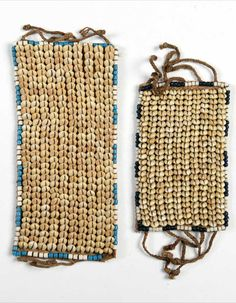 Democratic Republic of Congo | Two wristbands from the Kuba people; fiber, glass beads, cowrie shells and natural fiber | Est. 120 - 180€ ~ (Sept '15)