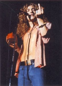 "Robert Plant, front man for my favourite rock band, ""Led Zeppelin""! Angela Bowie, John Paul Jones, John Bonham, Jimmy Page, Great Bands, Cool Bands, Arte Led Zeppelin, Hard Rock, Rock And Roll"