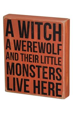 A witch, a werewolf, and their little monsters live here http://rstyle.me/n/qkum5nyg6