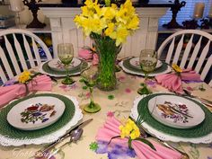 Smashing Plates Tablescapes: Happy 1st Day of Spring