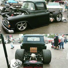 57 Chevy Trucks, Hot Rod Trucks, Chevy Pickups, Cool Trucks, 60s Muscle Cars, Muscle Truck, Custom Trucks, Custom Cars, Classic Trucks