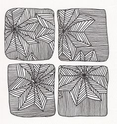 #55 Zentangle - Afterglo on a Sunday