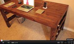 pallet desk video