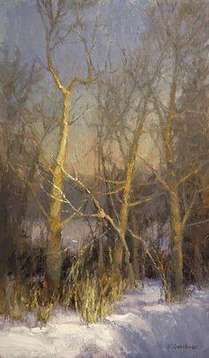 Winter Chroma by Kim Casebeer Oil ~ 20 x 12