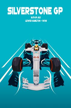 Poster for the British GP featuring Lewis Hamilton. Hamilton Poster, Lewis Hamilton Formula 1, Hamilton Wallpaper, Racing Helmets, Ad Car, Drag Racing, F1 Racing, Classic Motors, Car Posters