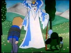 The Lion, Witch and the Wardrobe Cartoon. LOVED watching this as a kid.. they played it on TV a bunch.  you can watch the whole movie here!