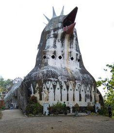 We received a new concrete curiosity: the so-called Chicken Church on Java. Thanks to Maik Kleiner!  Daniel Alamsjah: Gereja Ayam (Chicken Church) Java Indonesia 1989-2000  http://sosbrutalism.org/cms/18308368  Photos:  Maik Kleiner 2017