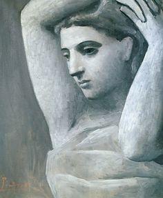Pablo Picasso / Bust of a Woman, Arms Raised (Buste de femme, les bras levés) / 1922 / Oil on canvas