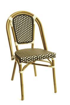 Aluminum Bistro Chair in Brown
