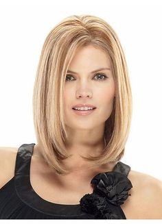Elegant Straight Medium 100% Human Hair Wig