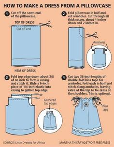 Pillowcase Dress Instructions. I can't wait to make these for my little girl when she's older!