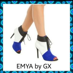 *PRICE DROP!!*NEW EMYA BY GX GWEN STEFAN Blue,black and white heels.Heel is about 2 inches-3 inches long.Size 7.True to size. Gwen Stefani  Shoes Heels