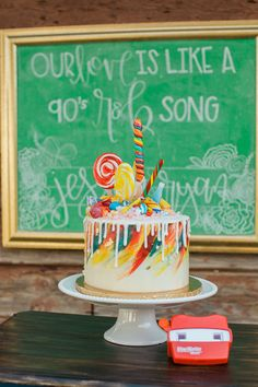 A whimsical, colorful and charming 90s nostalgia wedding inspiration shoot with Troll dolls, roller skates, View-Masters and more by Jennie Karges Photography