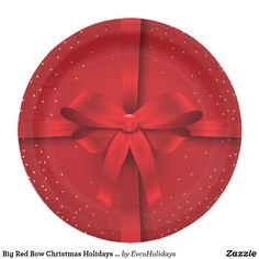 Shop Big Red Bow Christmas Holidays Gift Paper Plate created by EvcoHolidays. Christmas Mood, Christmas Cards, Christmas Decorations, Christmas Paper Plates, Holiday Gifts, Holiday Decor, Paper Gifts, White Elephant Gifts, Bow