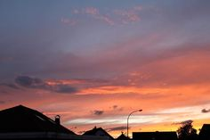 Sonnenuntergang zu Christi Himmelfahrt 2013 über Ettingshausen