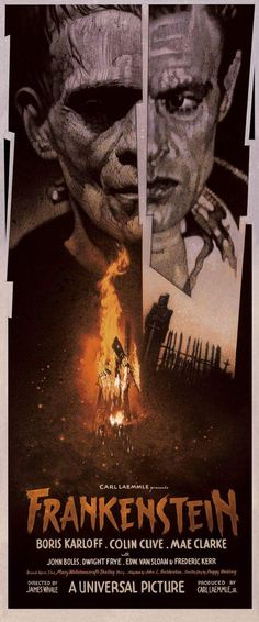Universal Classic Monsters Poster Art : Frankenstein 1931 by Drew Struzan