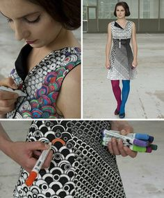 Color in dress...