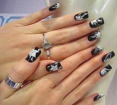 Black Nail Polish And Design.