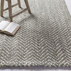 Sibley Handwoven Flatweave Jute/Sisal Medium Gray/Cream Chevron Area Rug – Area Rugs on hardwood Carpet Diy, Beige Carpet, Rugs On Carpet, Hall Carpet, Basement Carpet, Stair Carpet, Cheap Carpet, Carpet Ideas, Sisal Carpet