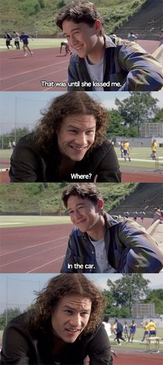 Heath Ledger | Joseph Gordon-Levitt | 10 things I hate about you #Movie #Rawr