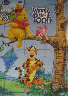 Disney Woodboard Puzzle 12 Piece Winnie The Pooh.  LLL 28 #Disney