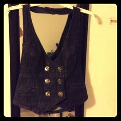 "Selling this ""Guess Dark Denim Vest"" in my Poshmark closet! My username is: melissanbravo. #shopmycloset #poshmark #fashion #shopping #style #forsale #Guess #Outerwear"