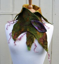 Forest Faerie Elven Collar Cowl by folkowl on Etsy, $60.00