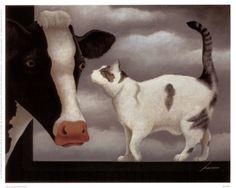 Vache et chat