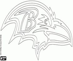 baltimore ravens logo american football team in the north division afc baltimore maryland coloring page for hubby - Denver Broncos Coloring Pages