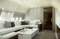 Fellow private jet design company Comlux invests huge amounts of time and money in noise reduction and improving the flight experience for clients