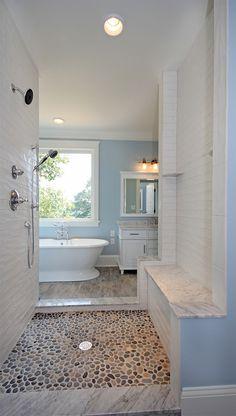 Walk through shower before frameless shower doors installed. http://smithandrobertson.com/index.php