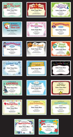Certificate Template For Kids Free certificate templates     Child Certificates   Achievement Pack  20 kids certificates to recognize  and reward some important achievements like  Good Grades  Aced the Test
