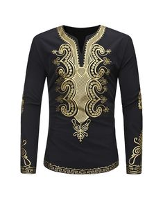African Tribal Shirt Men Dashiki Print Long Sleeve Succinct Hippie Blouse Casual in Clothing, Shoes & Accessories, Cultural & Ethnic Clothing, Africa Tribal Shirt, Camisa Tribal, Dashiki Shirt, Casual Tops, Casual Shirts, Men's Shirts, Chemise Fashion, Fashion Pants, Outfits