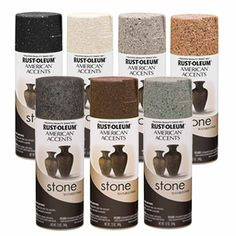 Rust-Oleum American Accents Stone Textured Spray Paint Vases Pots Arts Crafts in Crafts, Art Supplies, Painting Supplies