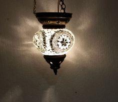 Moroccan lantern mosaic hanging lamp glass chandelier light lampen candle  038 #Handmade #Moroccan