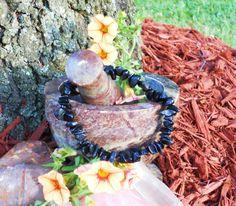 Rainbow Obsidian Chip Bracelet by LunasMagicks on Etsy