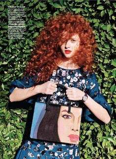 GORGEOUS red curly hair. She looks like Merida! #curlyhair eSalon.com  Love this beautiful color