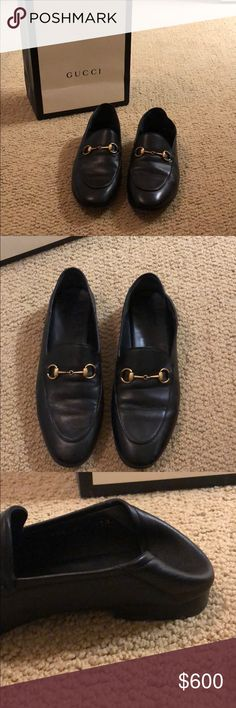 b669cd41ee8 Gucci Brixton loafers Women s black Gucci Brixton loafers. Only worn 2 or 3  times. Sold with original box bag dust bag.